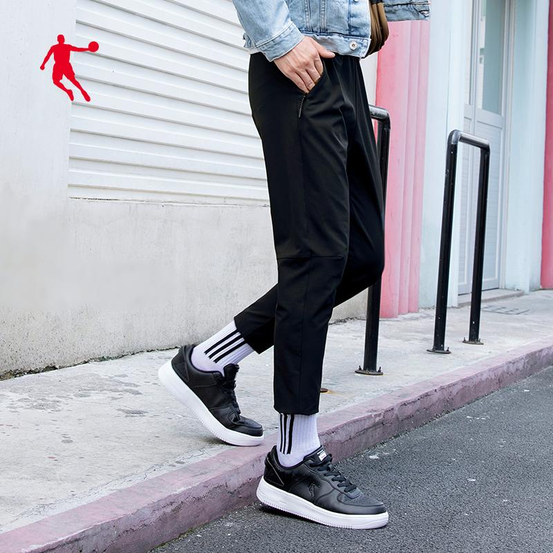 乔丹男士运动裤男2020春季新款筒裤速干男装休闲卫裤直梭织子长裤