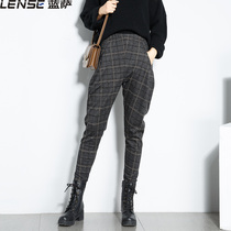 2018 autumn Winter fashion womens pants Tide banana pants skinny harlan pants trousers
