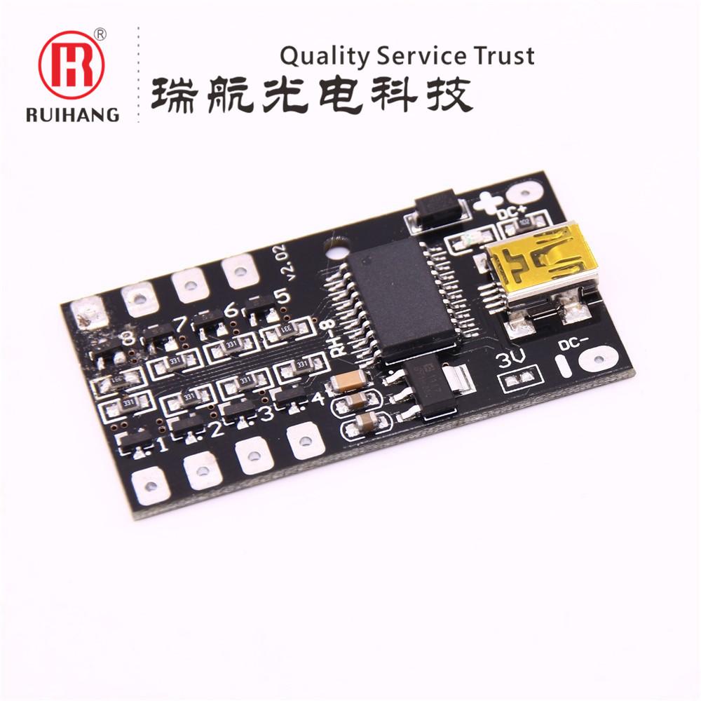 USB программируемый контроллер Светодиодный ночной змей градиентной вспышки воды вспышка 12V5V electronic свет Box RH-8 Road 3A