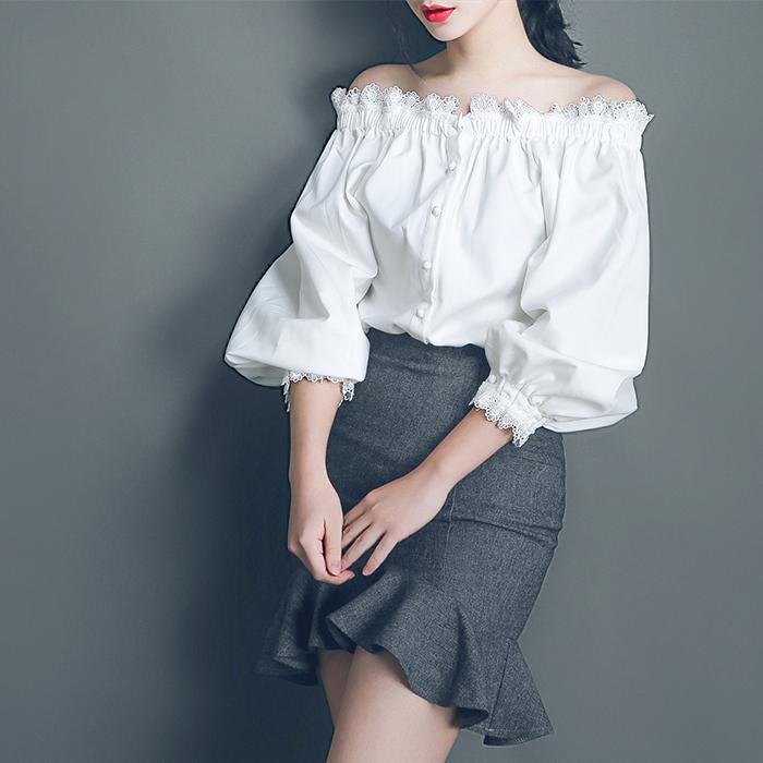 2016春夏装新款韩版气质吊带一字领露肩短袖T恤女装修身显瘦上衣