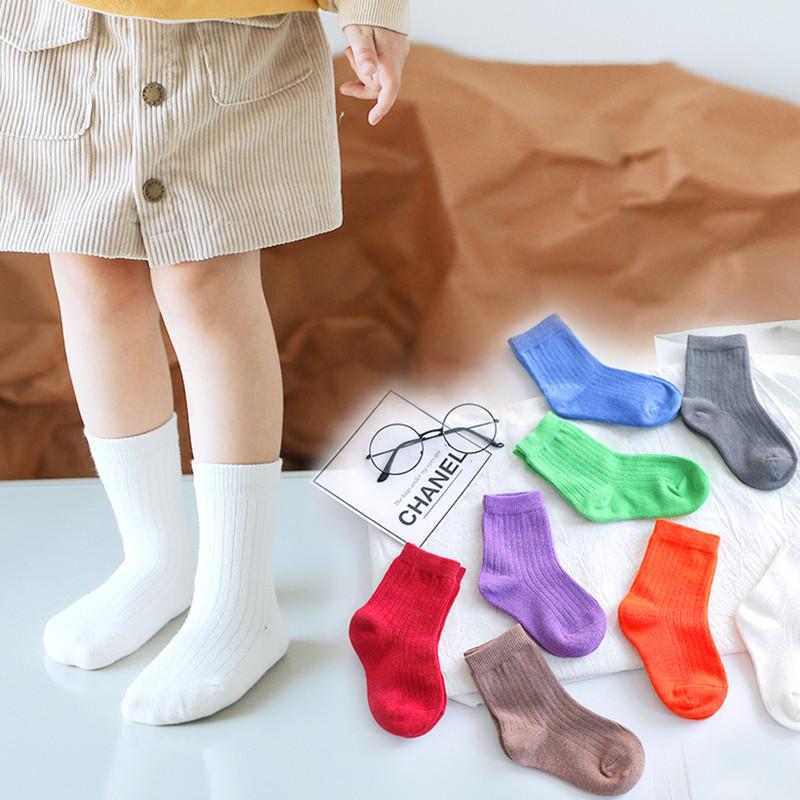 韩国儿童袜子潮ins 女童袜男童纯棉-秒客网
