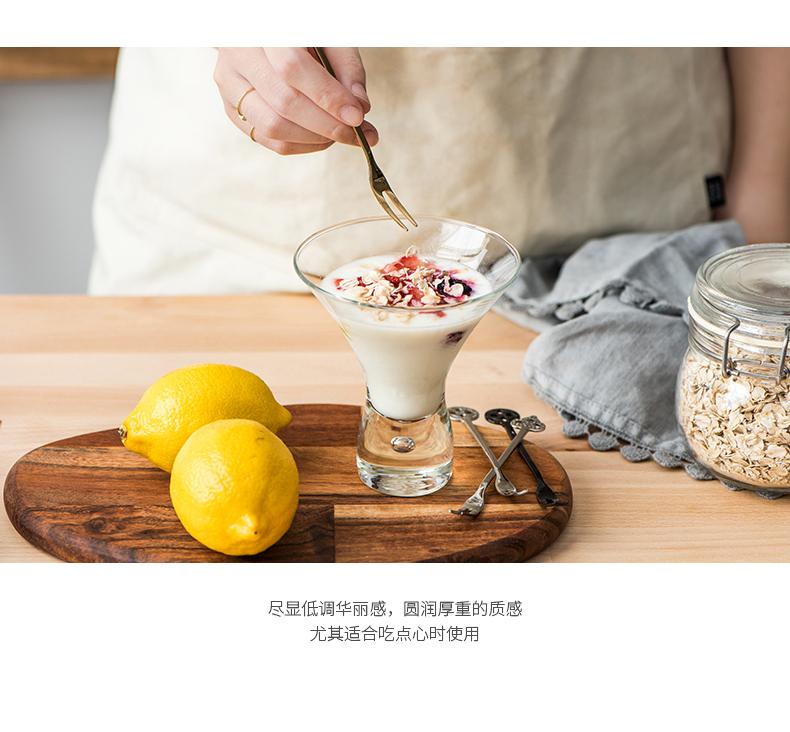 瓷魂家用复古风简约不锈钢水果叉甜品叉华丽居家创意蛋糕叉子