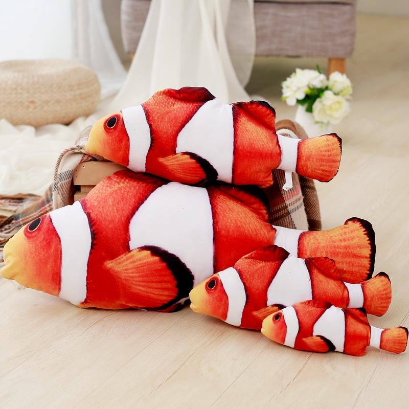 创意仿真大鱼毛绒玩具公仔大号睡觉抱枕鱼布娃娃生日礼物娃娃女生