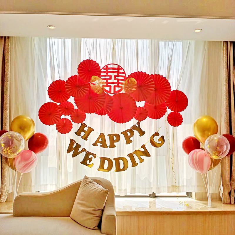 Usd 9 08 Wedding Room Decoration Aluminum Film Balloon Package Bedroom Background Wall Creative Romantic Wedding Arrangement Set Simple And Generous Wholesale From China Online Shopping Buy Asian Products Online From