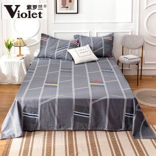 All cotton bed sheet of violet student dormitory