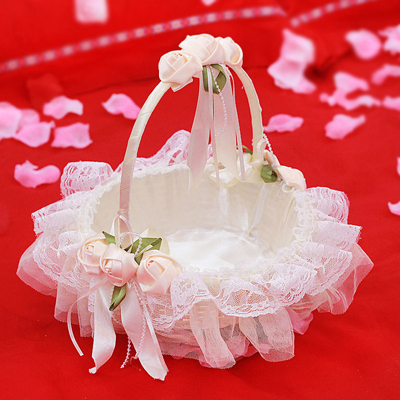 Usd 1915 wedding flower girl sprinkle flower small flower basket wedding flower girl sprinkle flower small flower basket wedding decoration supplies bridesmaid portable lace sprinkle petal junglespirit Choice Image
