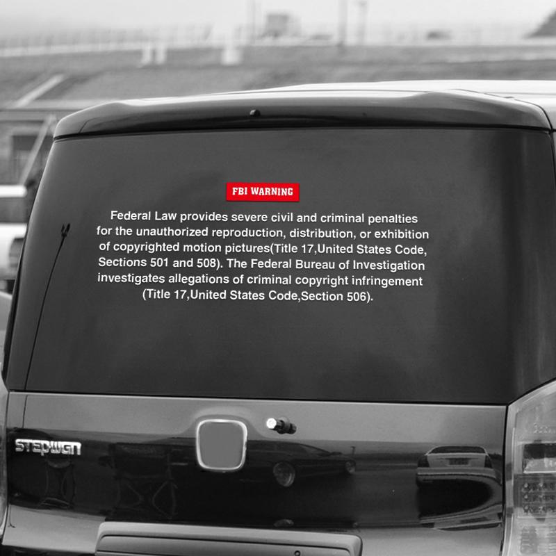 """4/""""  FBI FEDERAL BUREAU OF INVESTIGATIONS CAR BUMPER DECAL STICKER MADE IN USA"""