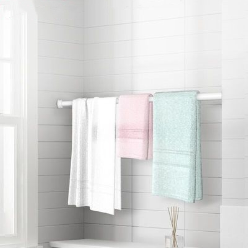 免打孔伸缩杆挂衣晾衣杆浴室卫生间架浴帘杆窗帘杆卧室衣柜撑杆子