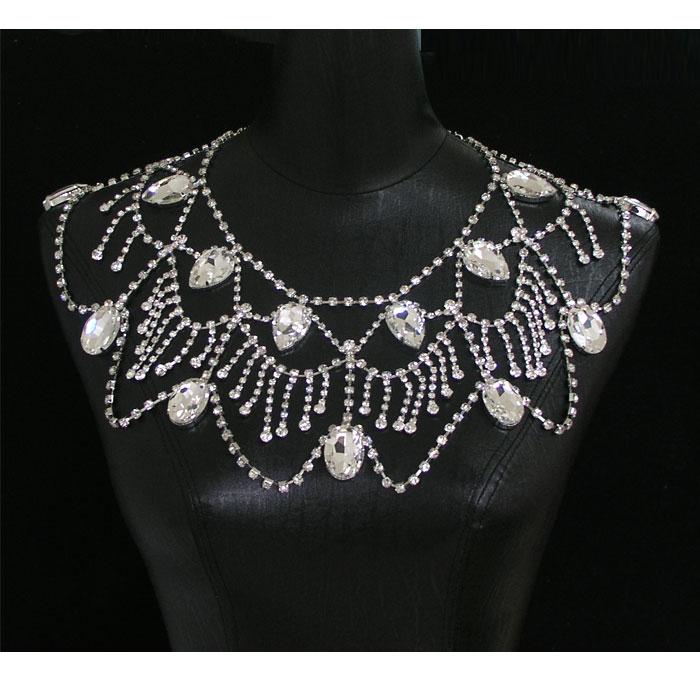新娘时尚大气肩链晚会礼服时装饰品婚礼婚纱配饰合金水钻唯美肩链
