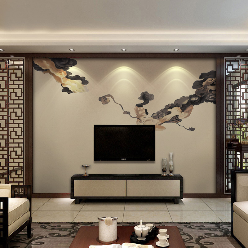 Chinese Style Wallpaper Mural Auspicious New Non Woven Wallpaper