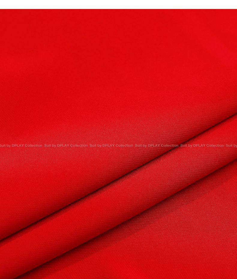 DPLAY Depala 2018 mùa hè mới châu Âu và Mỹ đỏ v- cổ dây đeo xù ngắn tay eo đầm
