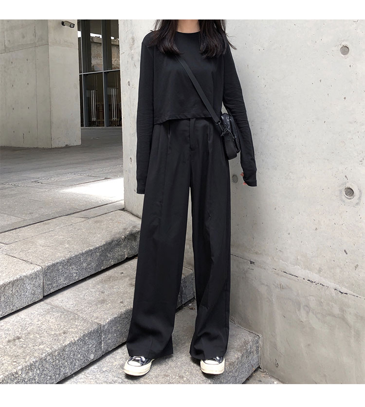 O1CN01h7EvyU1FRFqgrgga5 !!470100483 - S-L 2 colors Casual Straight Suit Pants Women High Waist Pant Office Lady wide leg Long Trousers womens (X580)