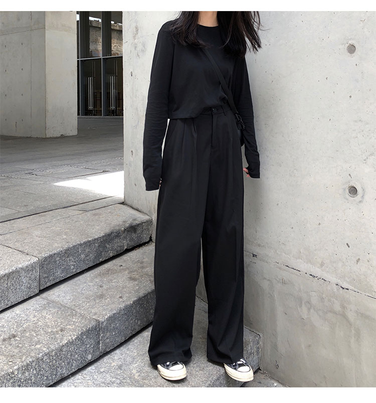 O1CN01hxZwZx1FRFqgOYMXo !!470100483 - S-L 2 colors Casual Straight Suit Pants Women High Waist Pant Office Lady wide leg Long Trousers womens (X580)