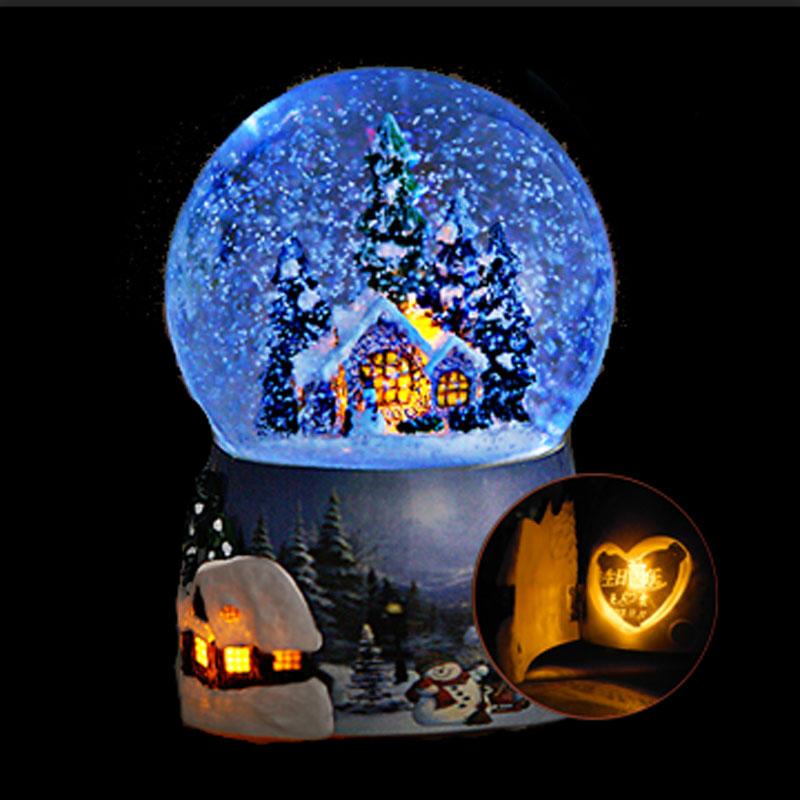 Музыкальная шкатулка Творческий Снежинка музыкальная шкатулка музыкальная шкатулка замок в небе хрустальный шар день рождения Новый год отправить мужчин и женщин подарок на День Святого Валентина