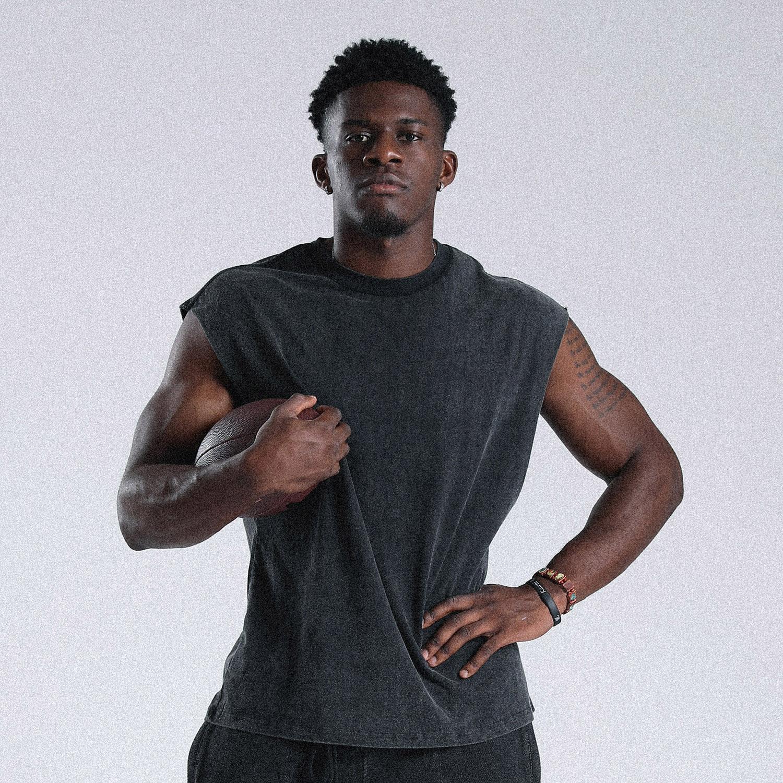 Ironlife运动套装男背心健身篮球无袖t恤宽松跑步坎肩体能训练服