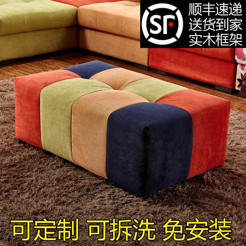 Диван стул стул хранения табуретка ткань диван табуретка магазин одежды диван прямоугольная гостиная 1шт Скамейка для пирса