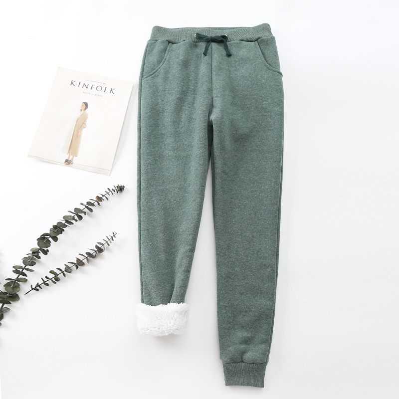 Winter Cashmere Harem Warm Pants Women 2020 Causal trousers Women Warm Thick Lambskin Cashmere Pants Women Loose Pant 19