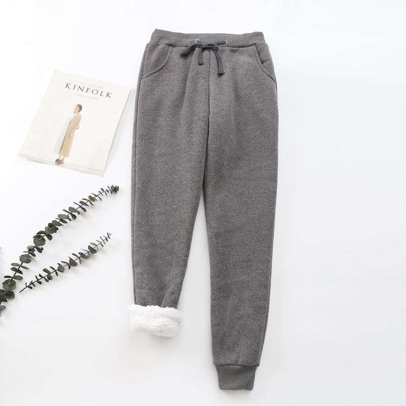 Winter Cashmere Harem Warm Pants Women 2020 Causal trousers Women Warm Thick Lambskin Cashmere Pants Women Loose Pant 22