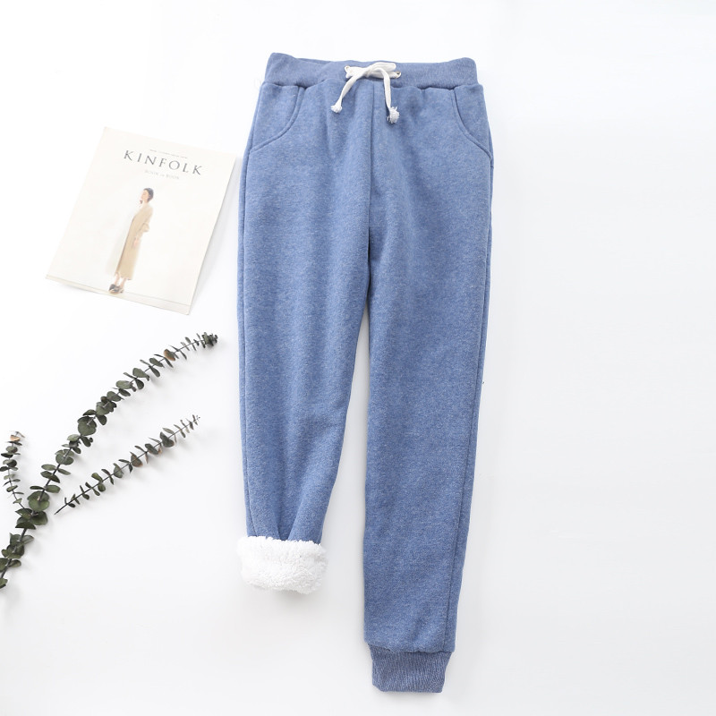 Winter Cashmere Harem Warm Pants Women 2020 Causal trousers Women Warm Thick Lambskin Cashmere Pants Women Loose Pant 25