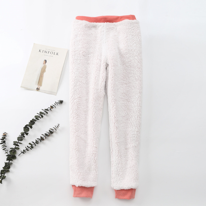 Winter Cashmere Harem Warm Pants Women 2020 Causal trousers Women Warm Thick Lambskin Cashmere Pants Women Loose Pant 15