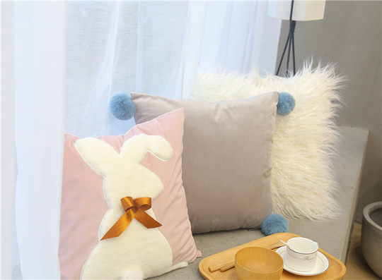 ins wind Nordic pillow cushion plush cushion pillow pillow living room sofa cushion pillow bedside hug pillowcase without core