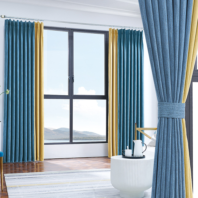 USD 30.34] Curtains finished simple modern 2019 new cotton ...