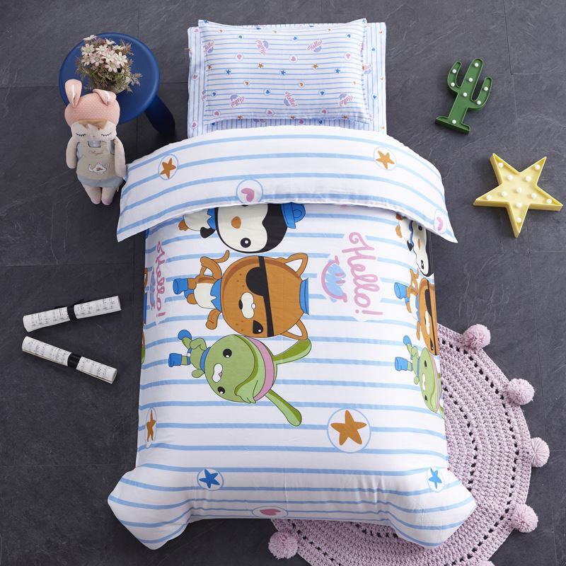 Piece set six nap containing core cotton baby quilt bedding cotton boys and girls entrance kindergarten three naps