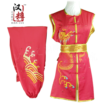 Chinese Martial Arts Clothes Kungfu Clothe Wushu competition Nanquan color clothing embroidery dragon sequin