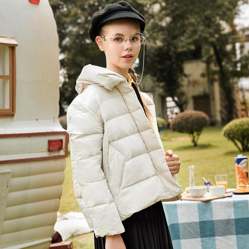 2018秋装新款韩版短款宽松90白鸭绒羽绒服女纯色面包服百搭外套潮