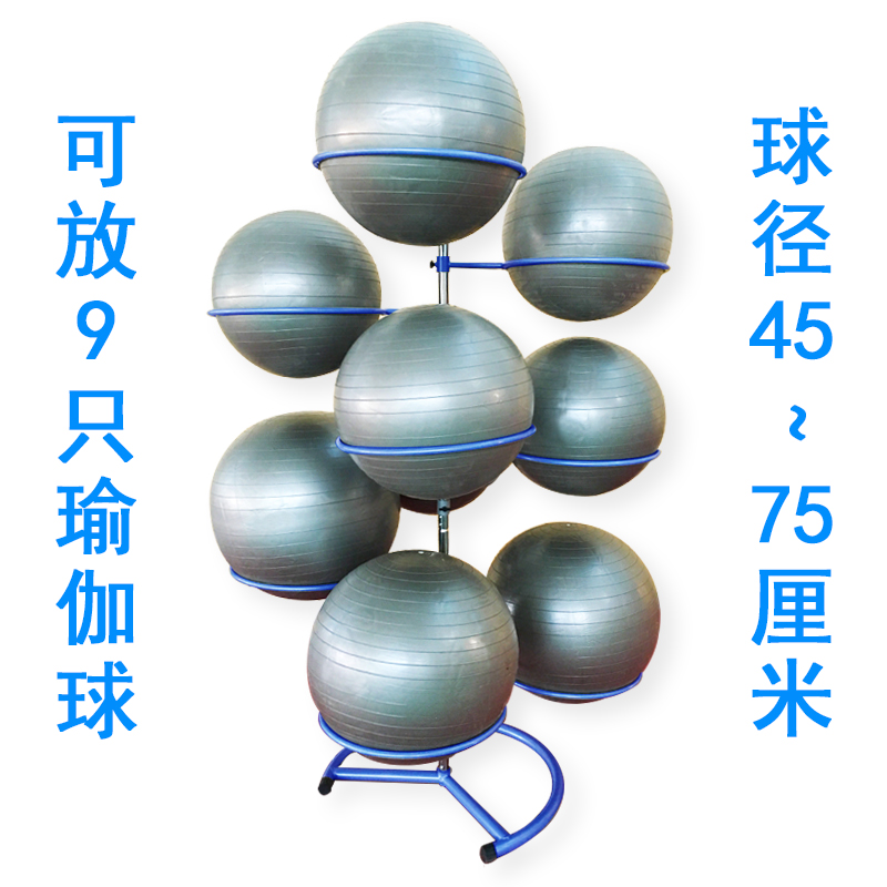 Сокровище голубой Йога мяч стойку может поставить 9 мячей