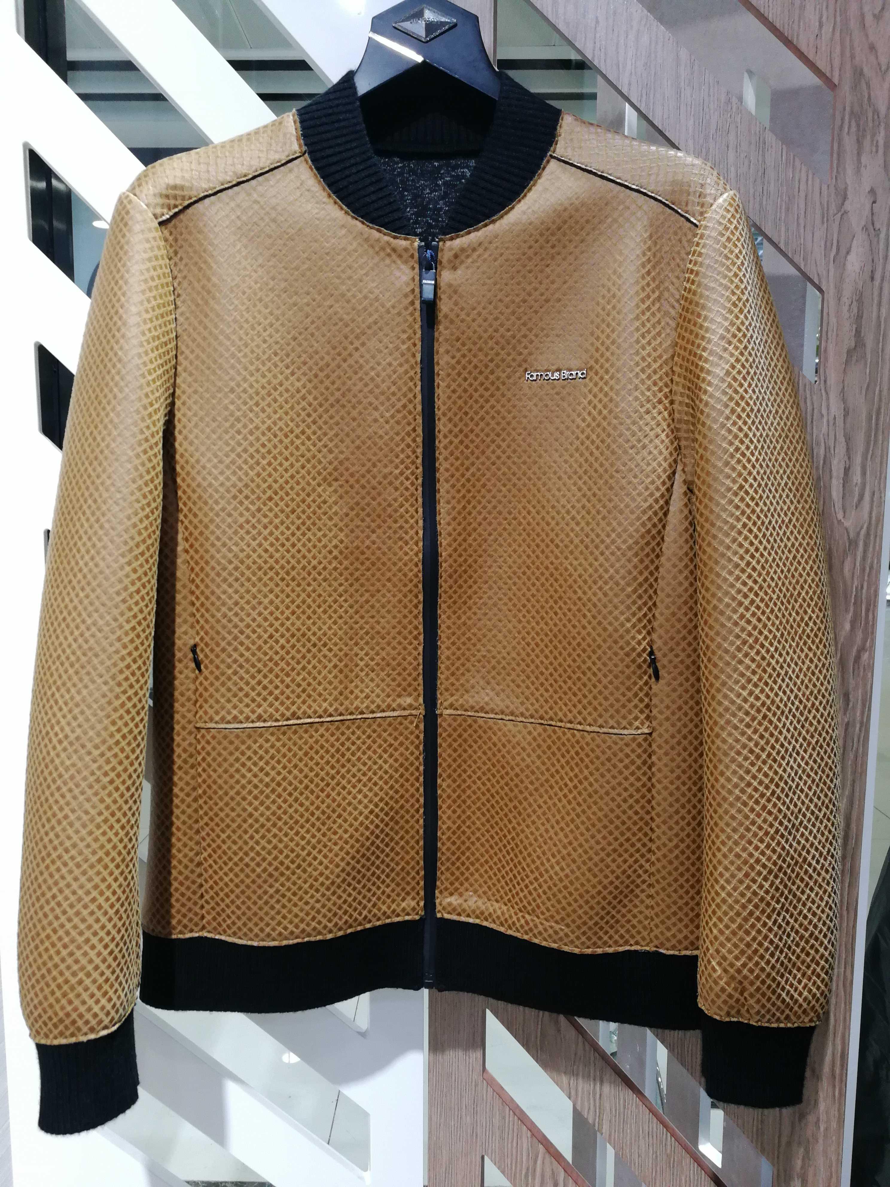 皮夹克潮流茄克衫男士领男装皮衣秋冬装18新款棒球时尚豪威堡外套