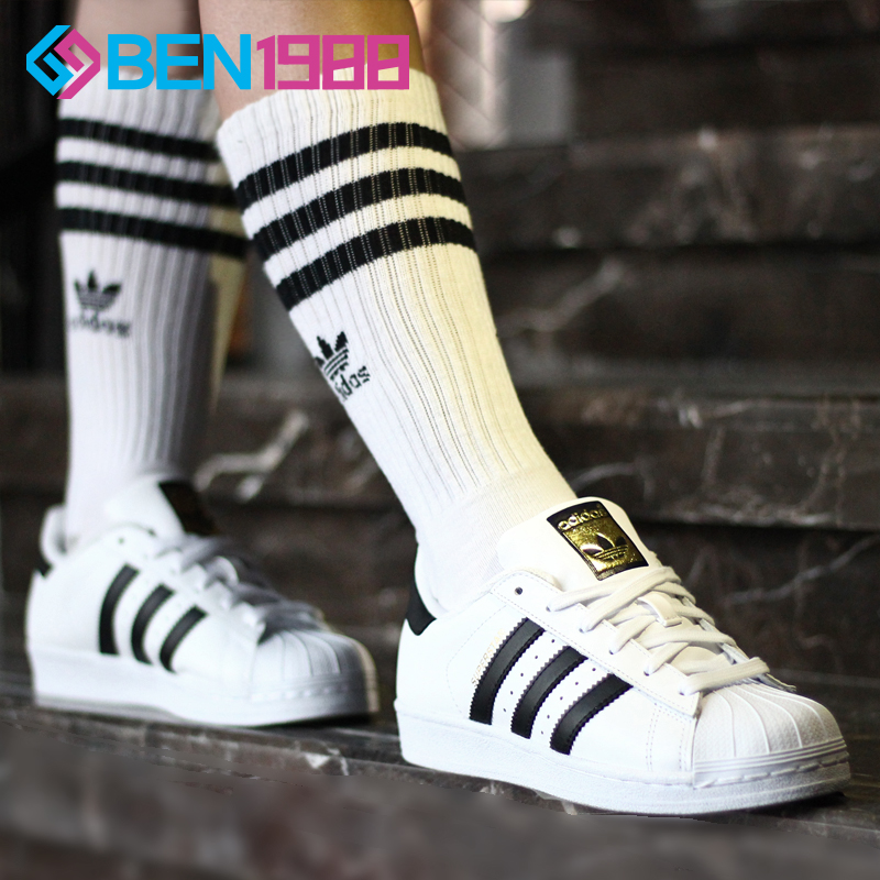 0eebfead675 Adidas women's shoes clover men's shoes gold standard shell head superstar small  white shoes shoes C77124
