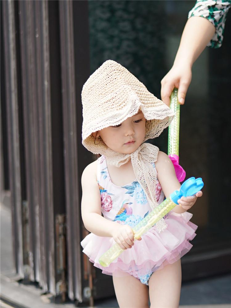 Girls' swimsuit, princess skirt one-piece swimsuit, Korean ins style