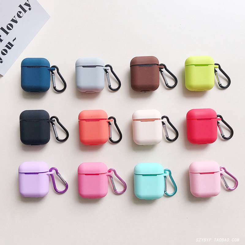 upgrade version of apple airpods protective cover silicone wireless bluetooth headset pendant diy du..