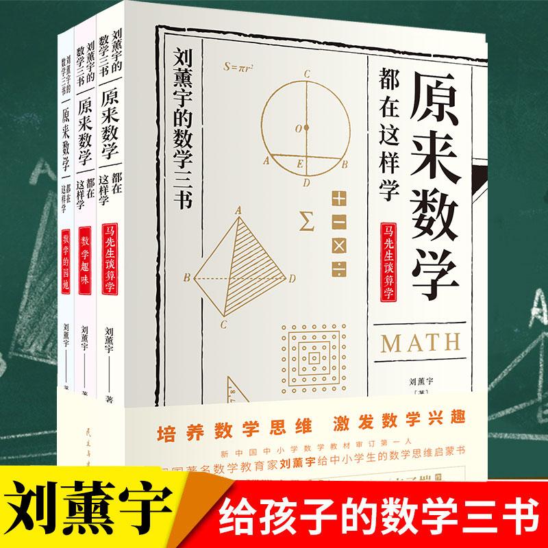 原来数学可以这样学全3册刘熏宇著三本初高中数学知识 数学的园地数学趣味初中数学教师用书总复习 马先生谈算学给孩子的数学三书