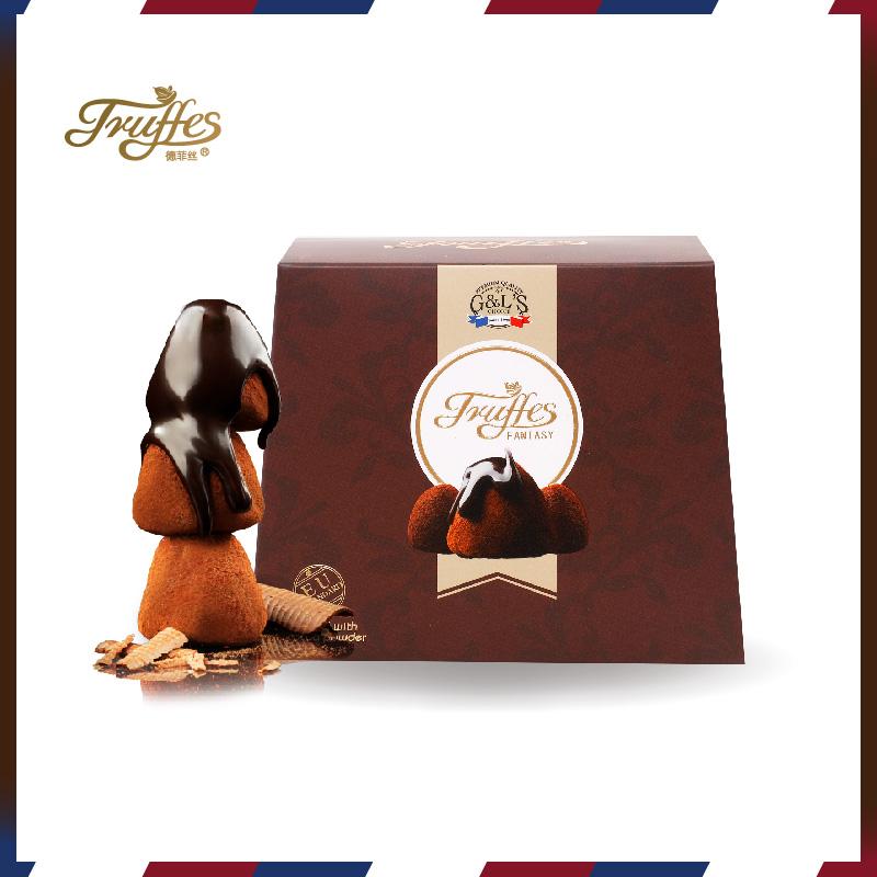 德菲丝 纯可可脂 松露形巧克力,经典女友吃货礼物