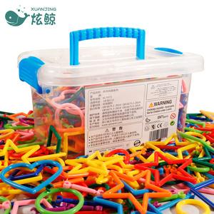 儿童聪明棒积木魔术棒塑料拼插积木玩具3-6周岁男女孩益智力拼装