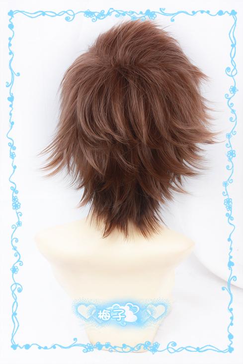 709 Kid the Phantom Thief//Kaitou Kiddo Hakuba Saguru Tea Brown mix Cosplay Wig