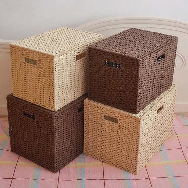 草编大号收纳箱整理储物箱衣橱收纳箱玩具整理收纳箱衣物收纳筐箱