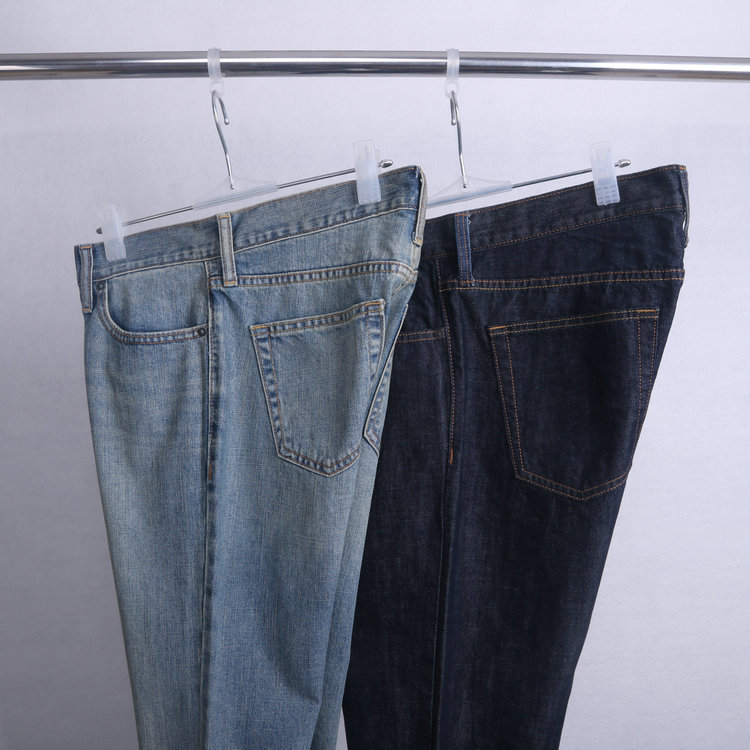 Flawed foreign trade men's clothing European and American style cotton wash nostalgic casual pants in waist conventional small straight men's jeans