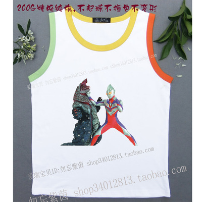 Men and women Altman playing monster 2017 summer boys baby children's sleeves cotton vest T shirt shirt shirt cut shoulder T