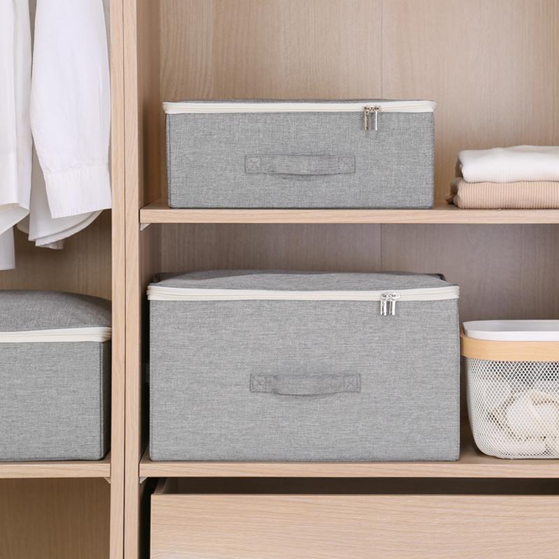 衣柜收纳箱衣物棉被收纳盒整理箱家用被子储物箱盒子衣服布艺大号