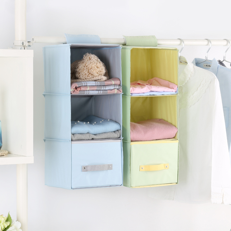 Day Vertical Wardrobe Storage Hanging Bag Bedroom Finishing Bag Cloth  Wardrobe Hanging Dormitory Clothes Storage Rack
