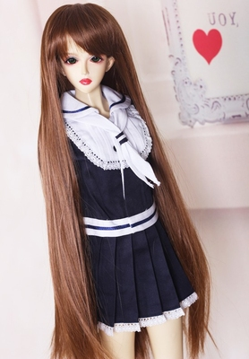 taobao agent bjd wig sd/msd/dd high temperature wire 65cm entity 3 points 4 points 6 points male and female baby afb3007 brown #30