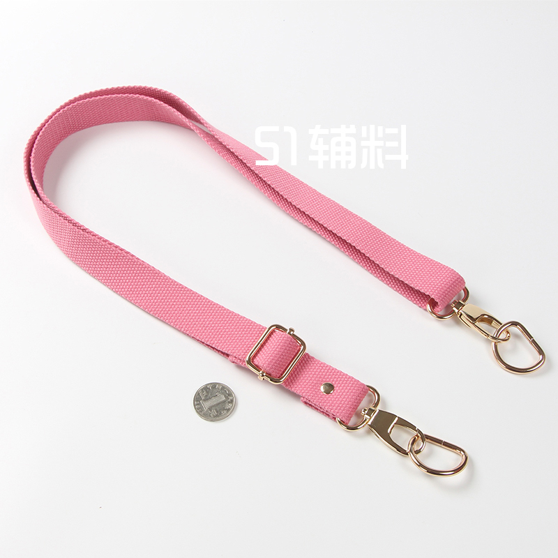 2.5cm Wide And Deep Pink Light Gold Flat Buckle