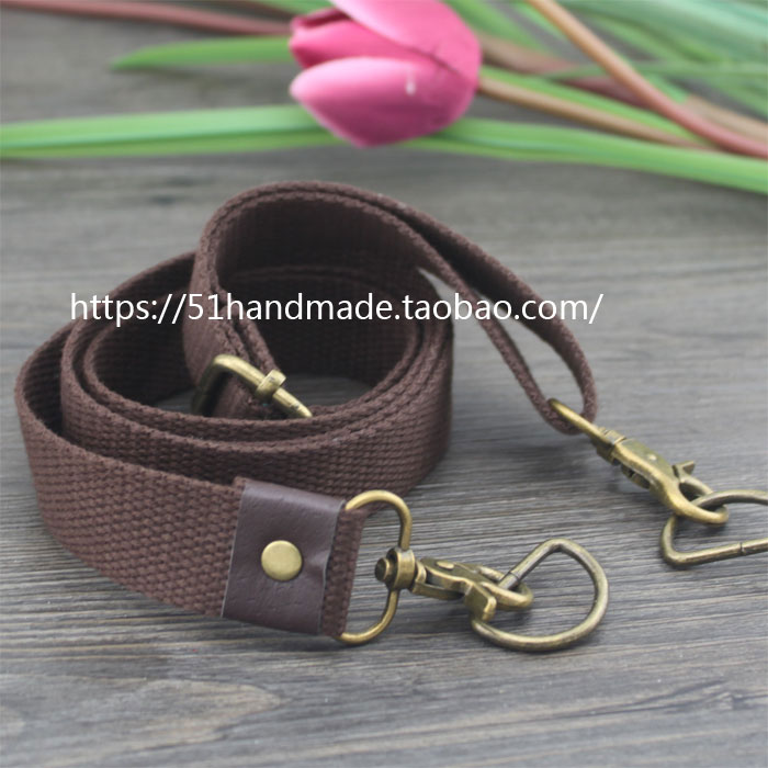 2.5cm Dark Brown Imitation Leather Head Bronze Buckle