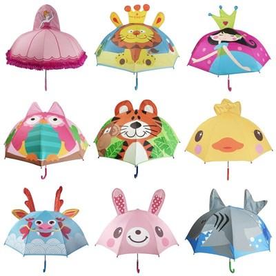 小红帽儿童晴雨两用伞男女孩公主卡通伞防紫 外线轻便长柄遮阳伞