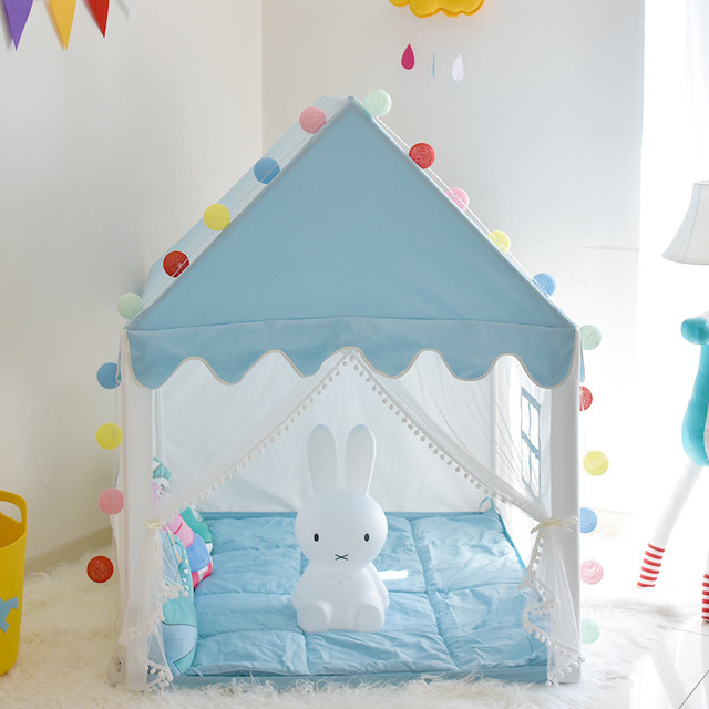 Childrens Tent Game House Cloth Making Indoor Home Girl Castle Small House Boy Yurt Toy House Color : A