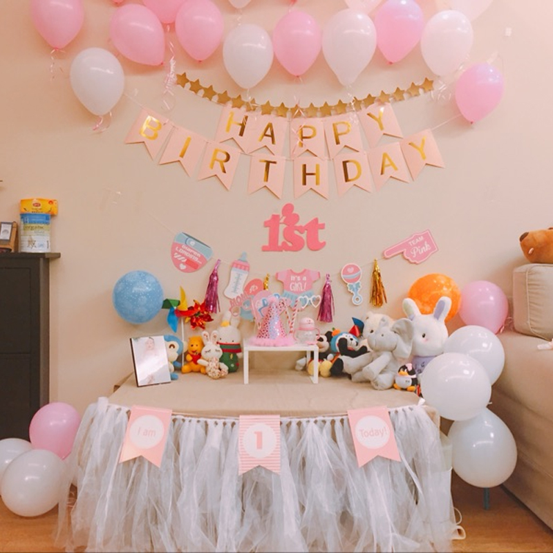 Birthday decoration childrens theme wall girl princess baby 100