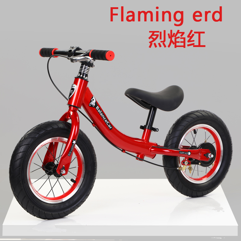 F Red [high Carbon Steel Body + Pneumatic Tires]  With Brakes